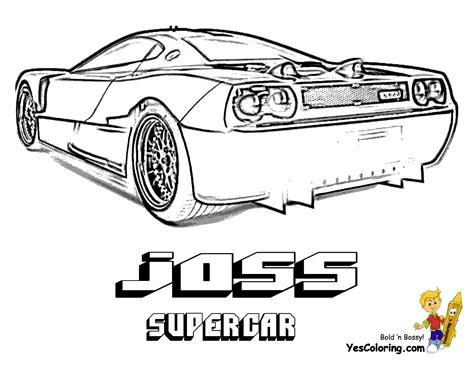 supercars colouring pages