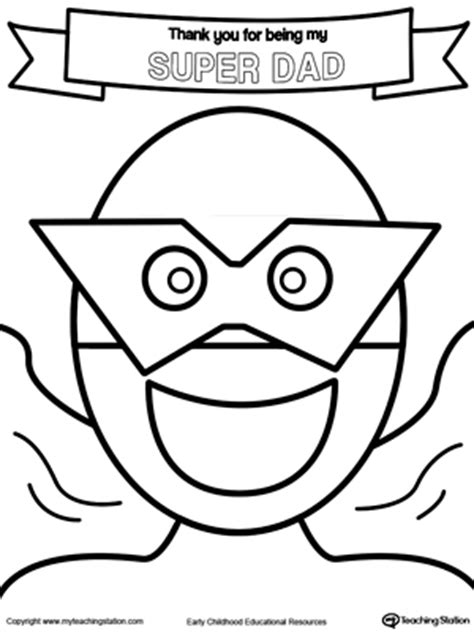 superhero dad coloring page free early childhood educational resources lessons