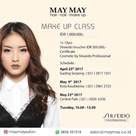 may may salon special price make up class