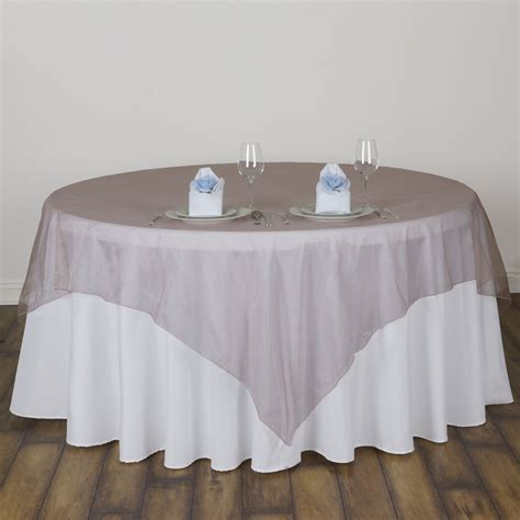 organza table overlays 5 sheer organza 72x72 quot square table overlays toppers wedding linens sale ebay