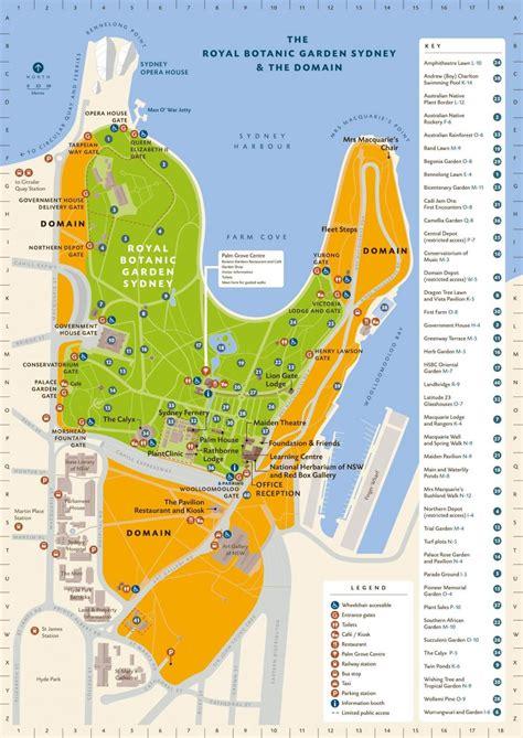 sydney botanic gardens map royal botanic gardens sydney