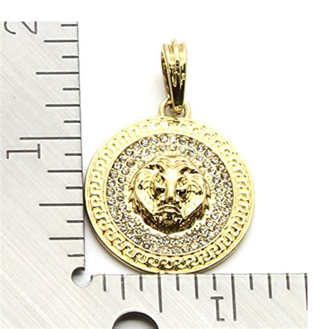 gold lion pattern mens medallion pattern lion gold tone 4mm 24 quot mariner
