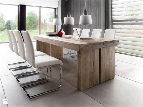 modern glass esszimmertisch drewniany st 243 ł dalton i nowoczesne krzesła zdjęcie od