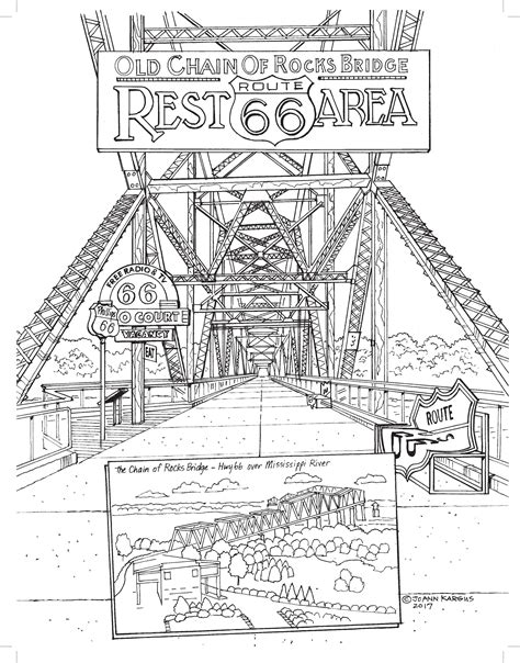 Route 66 Coloring Pages New Adult Coloring Book Shows Off The Wonders Of Route 66 by Route 66 Coloring Pages