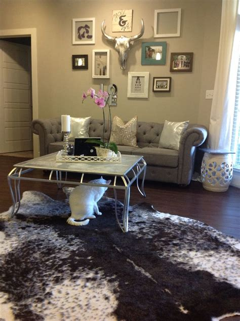 Purple Gray Living Room by In With New Modern Purple Gray Living Room The