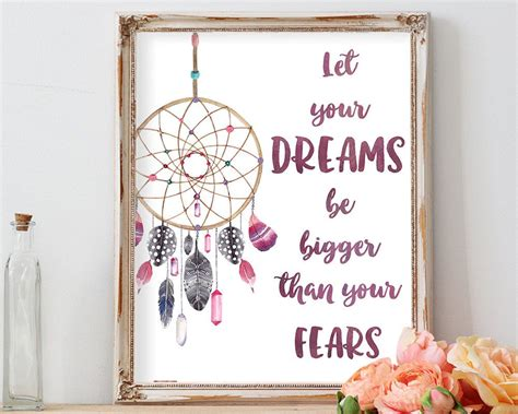 dream catcher quote life inspirational quote dreamcatcher print dream quote