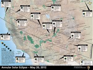 map of us national parks west nps explore nature 187 annular eclipse 187 where to view