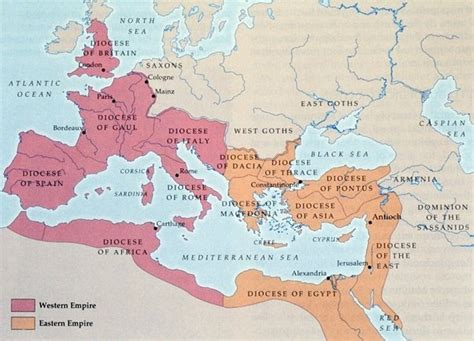 why was the roman empire divided into two sections did the roman emperor diocletian divided the roman empire