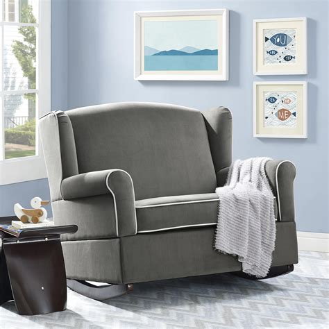 chair and a half rocker with ottoman dorel living baby relax lainey wingback chair and a half