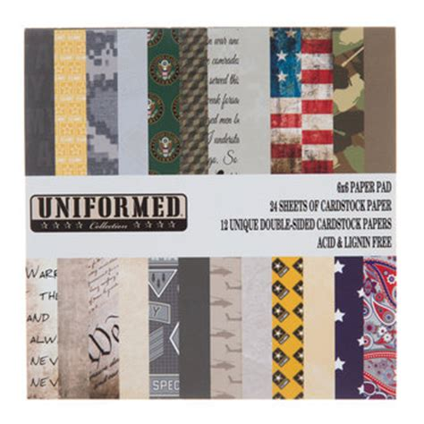 Hobby Lobby Craft Paper - 6 quot x 6 quot army cardstock paper pack hobby lobby 1301274