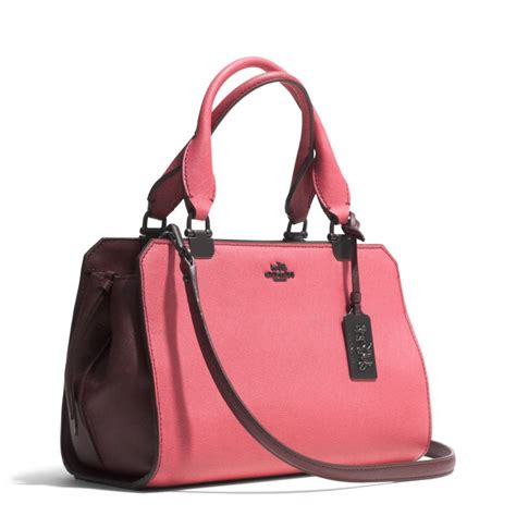 Coach Carryall Set 883 1 Semi lyst coach mini carryall in colorblock