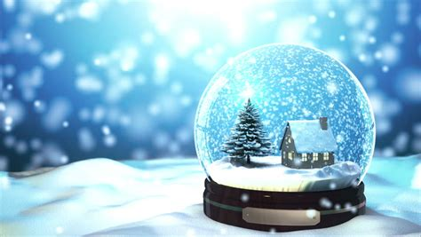 winter scene snow globes merry background by tree and house in snow globe snowflake with snowfall