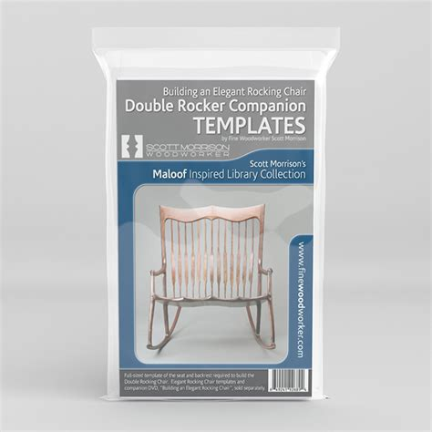 rocking chair template maloof inspired rocker templates by morrison
