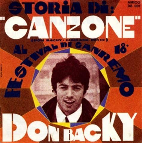 poesia don backy testo discografia nazionale della canzone italiana