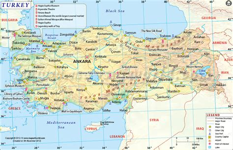 printable tourist map of turkey maps update 1966927 tourist attractions map in turkey