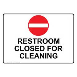 Bathroom Out Of Order Sign Restroom Closed For Cleaning Sign Nhe 8620 Restrooms