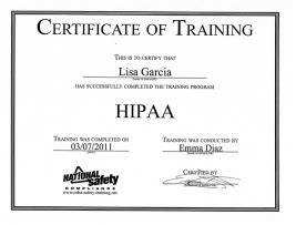 hipaa certification letter awards and certificates garcia