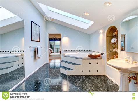 blue marble bathroom master bathroom with blue marble tile floor and corner bath tub stock image image