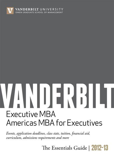 Isu Mba Tuition by Executive Programs Essentials By Vanderbilt Owen Graduate