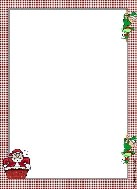 printable elf borders santa and elves christmas frames borders pinterest