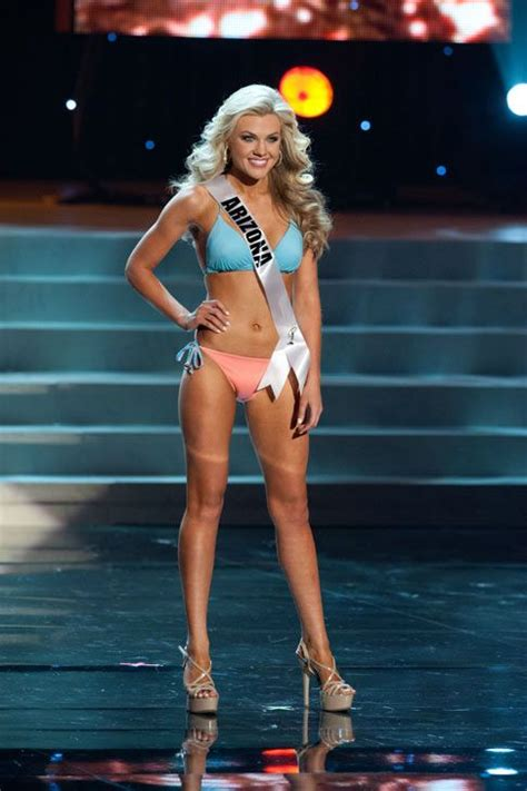 Miss Nevada Turns For by Iss Arizona Poses In A During The Miss Usa