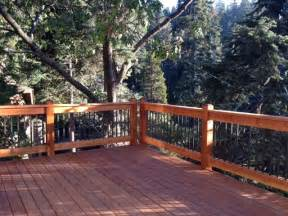 two story wrap around deck with custom design railings