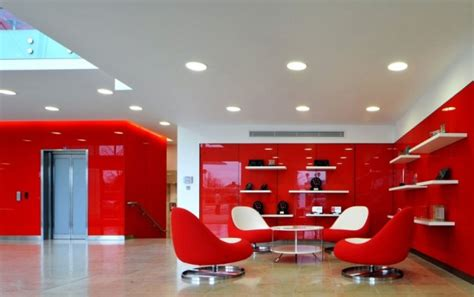 Home Decor Stores San Antonio morgan lovell paints the new rackspace office red with