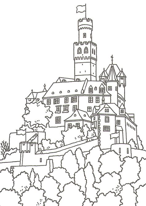 Great Castles Games Castle Coloring Book Germany Coloring Page