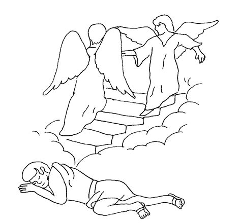 free bible coloring pages jacob s ladder esau and jacob coloring pages coloring home