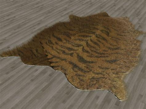 tiger fur rug fur rug tiger skin 3d max
