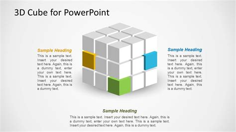 3d cube design for powerpoint slidemodel