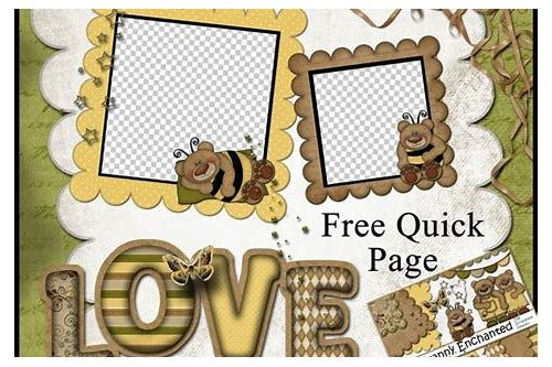 digital scrapbooking quick pages freebies