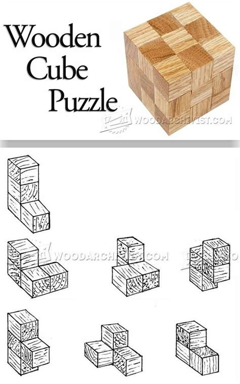 diy wooden cube puzzle woodworking plans  projects