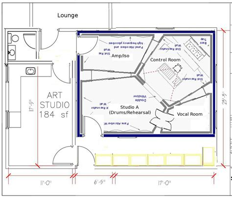 recording studio floor plans image