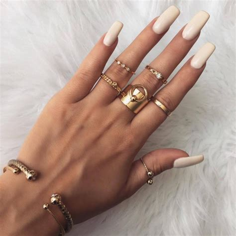 jewels knuckle ring ring gold ring nail polish