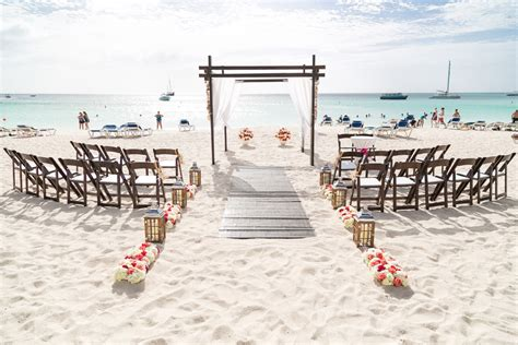 Home Wedding Decor wedding setup at the riu letz aruba