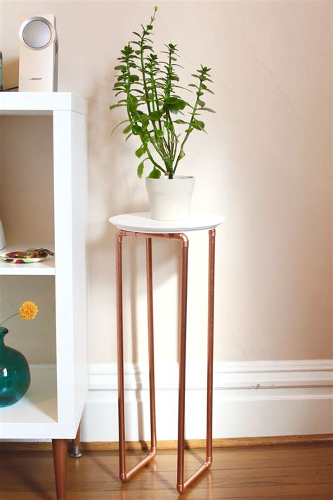 diy copper table legs copper leg plant stand plants legs and diy ideas