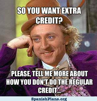 Teacher Memes - extra credit willywonka png
