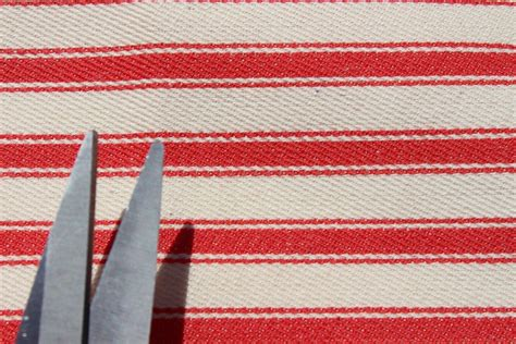 100 Cotton Upholstery Fabric by 100 Cotton Woven Ticking Stripe Deck Chair Furniture
