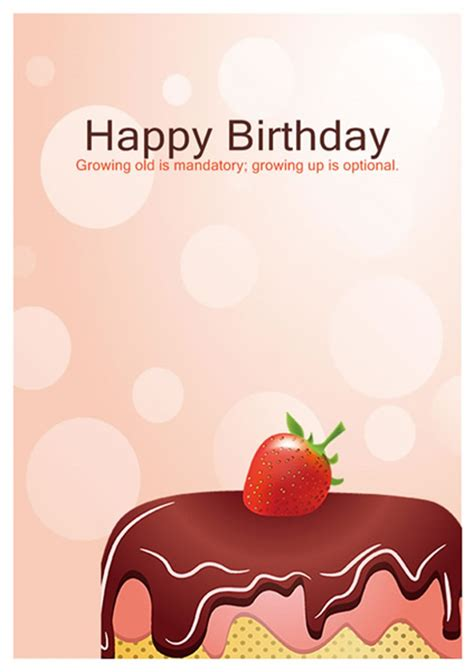Birthday Cards For In 40 Free Birthday Card Templates Template Lab