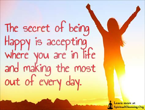 secret of day inspirational quotes about being happy in image
