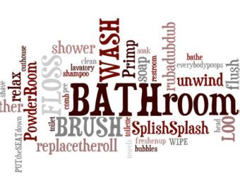words for bathroom 1 2 bath word wall quotes quotesgram