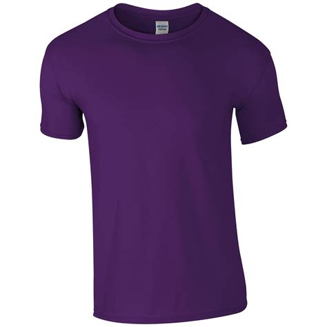 Kaos Purple Tshirt Gildan Softsytle 06 gildan mens softstyle ringspun sleeve plain crewneck cotton t shirt 64000 ebay