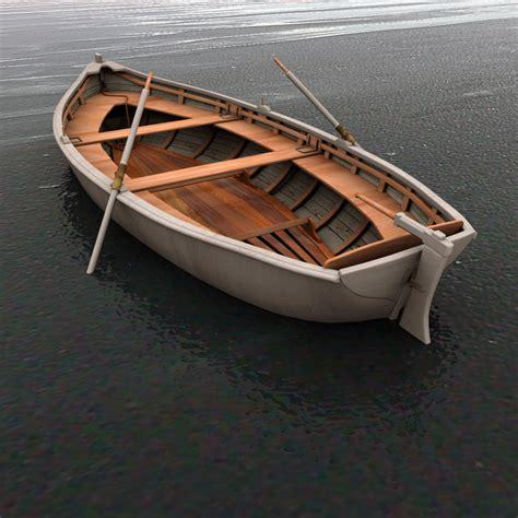 row boat model 3d row boat