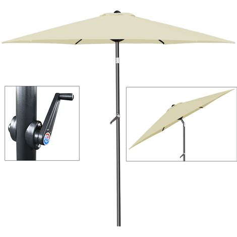 Parasol 2m Inclinable by Parasol 216 200cm Inclinable Avec Manivelle Beige