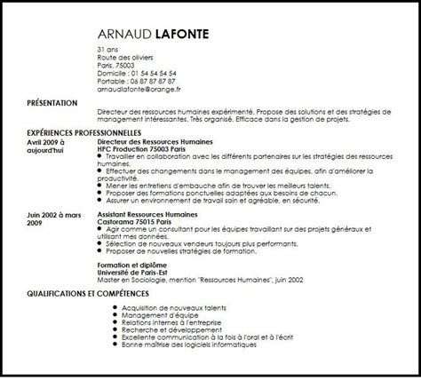 Video Production Resume Samples by Cv Directeur Des Ressources Humaines Exemple Cv