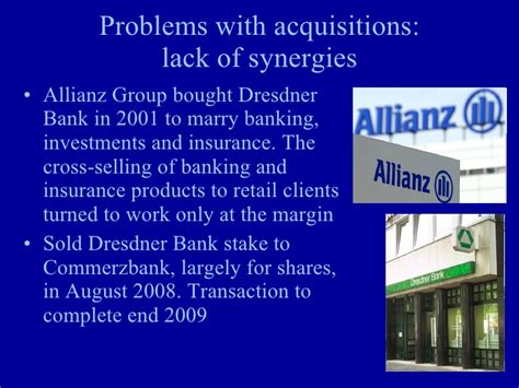 allianz dresdner bank growth strategies non organic growth
