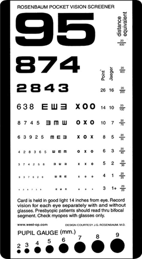 printable near eye chart rosenbaum pocket eye chart