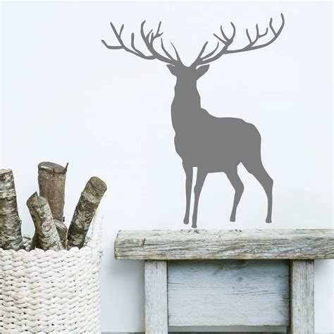 deer stickers for wall stag and deer vinyl wall stickers by oakdene designs notonthehighstreet