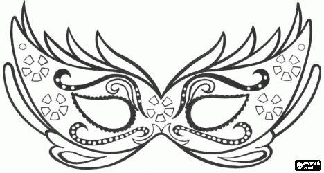 mardi gras mask template elegant mask  carnival party